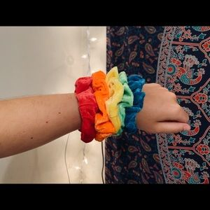 velvet scrunchie pack | neon